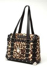 Mini Weekender Tote - Black Matte/Leopard
