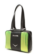 Carry All Tote - Black Matte/Lime Green Sparkle
