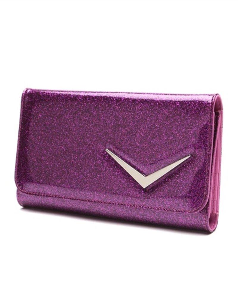 Getaway Wallet - Electric Purple Sparkle