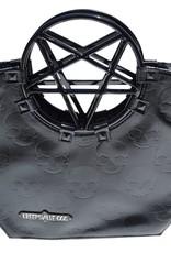 Pentagram Handle Purse Bag - Black