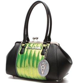 V8 Kiss Lock - Black Matte/Lime Green Sparkle