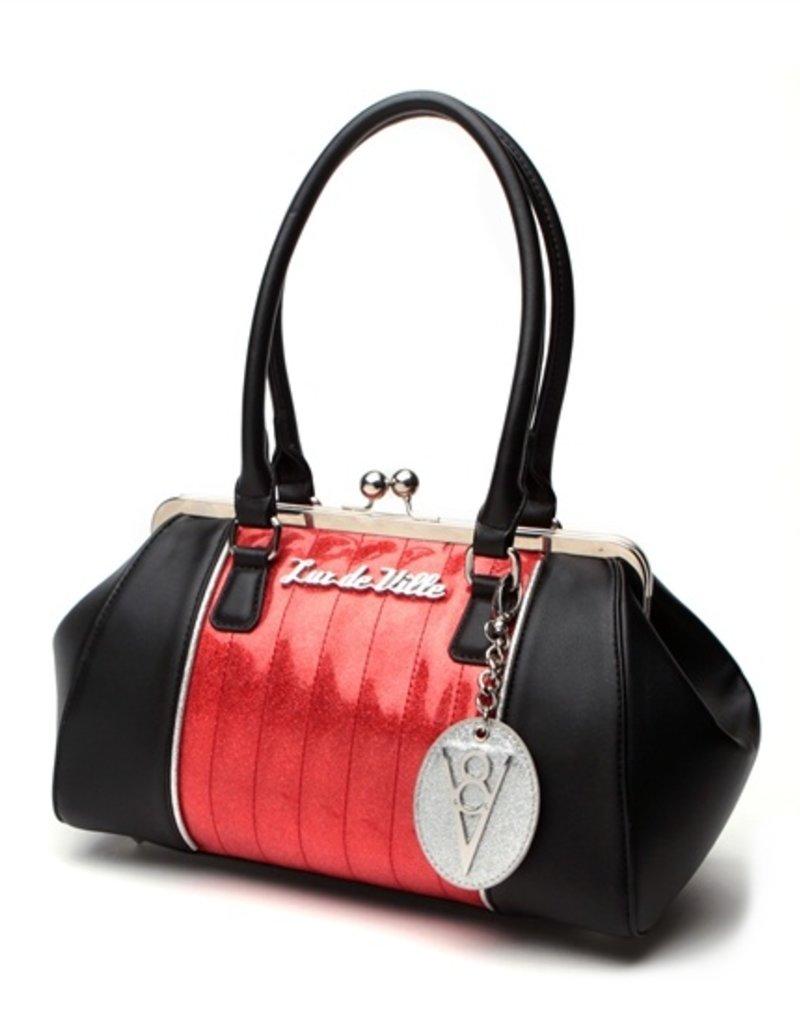 V8 Kiss Lock - Black Matte/Venom Red Sparkle