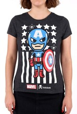 tokidoki - Captain America Women's Tee - Heather Grey