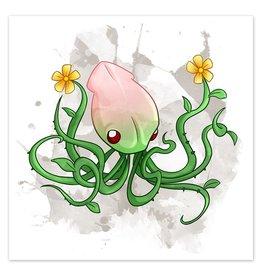 Cephfloralpod - Flower Squid - 8x8 Print