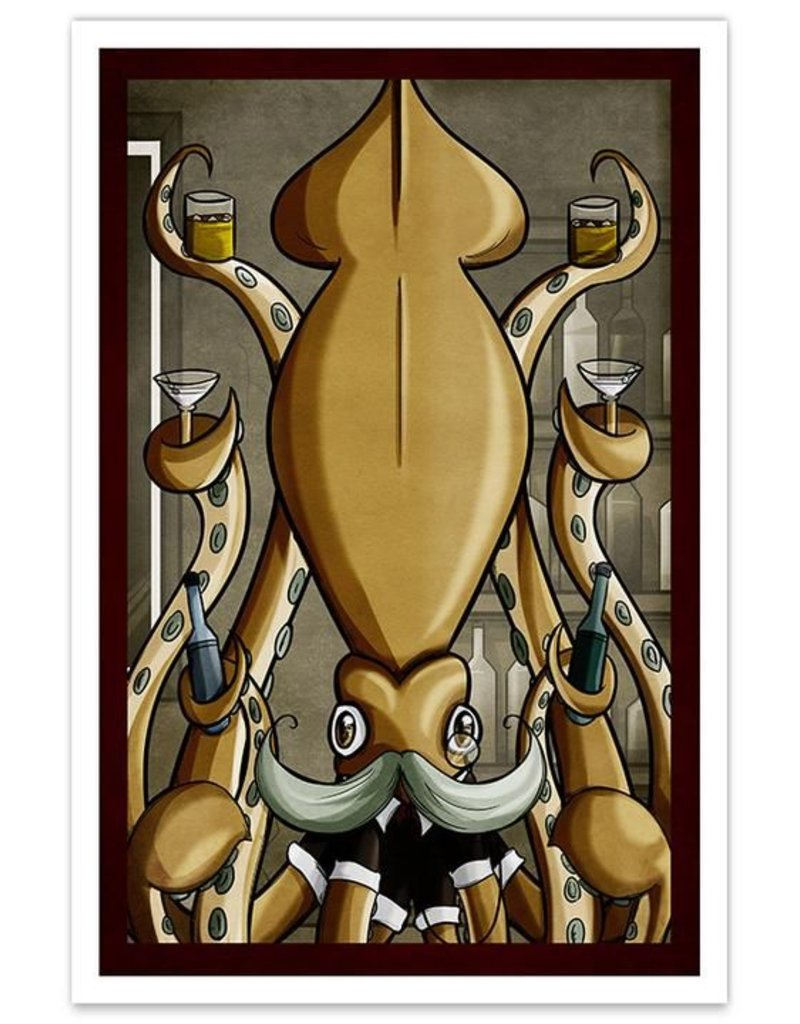 Dapper Squid - 8x12 Print