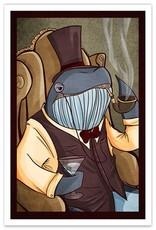 Dapper Whale - 12x18 Print
