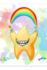 Rainbow Explosion - You're a Star - 8x8 Print