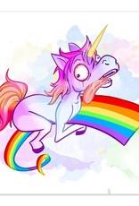 Rainbow Ride - Derpy Unicorn - 8x8 Print