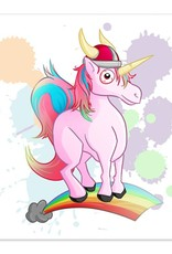 Rainbow Viking Unicorn - 8x8 Print