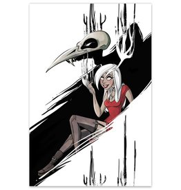 "Necrowmancer (Metallic Linen ECCC 2016 Exclusive) - ""Monsters & Dames"" Print"