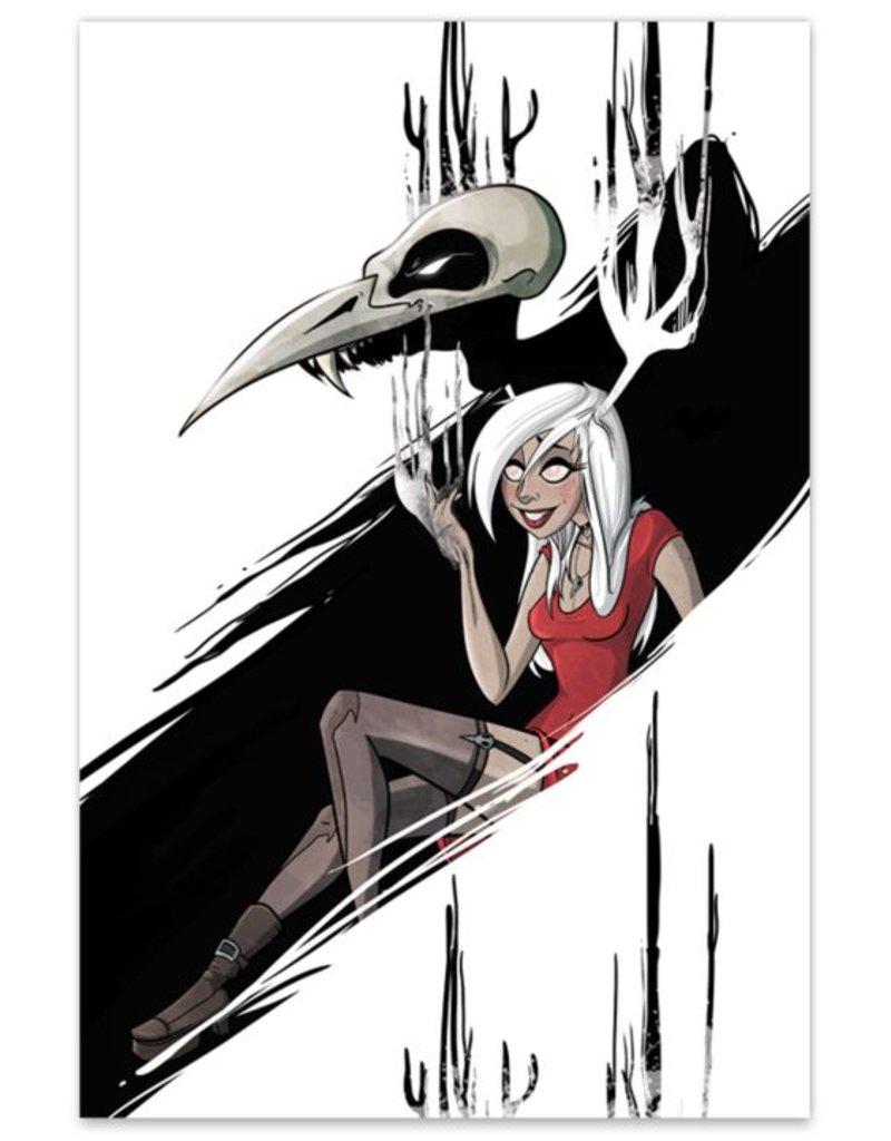 """Necrowmancer (Metallic Linen ECCC 2016 Exclusive) - """"Monsters & Dames"""" Print"""