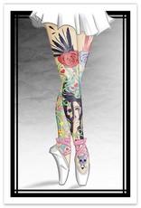 Tattooed Ballerina Legs - 8x12 Print