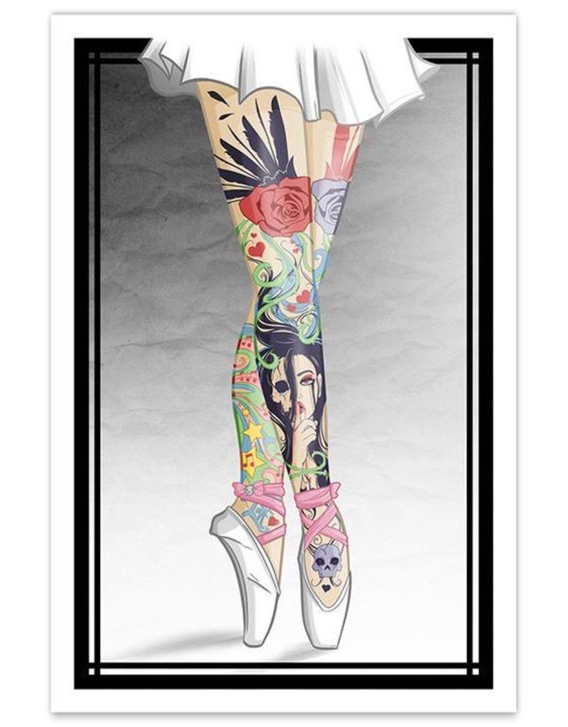 Tattooed Ballerina Legs - 12x18 Print