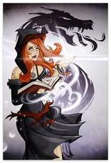 Vega, Dark Sorceress (Metallic Linen Destined Legends Exclusive) - Print