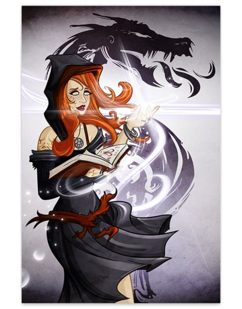 Vega, Dark Sorceress (Metallic Linen Destined Legends Exclusive) - Print