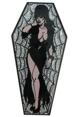 Elvira Coffin Pin - Silver/Glitter *DS