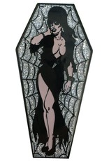 Elvira Coffin Pin - Silver/Glitter