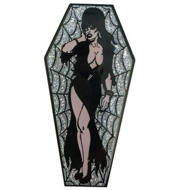 Elvira Coffin Pin - Silver/Glitter *DS