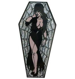 Elvira Coffin Pin - Silver/Glitter