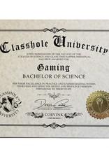 Classhole University BS Diplomas - Gaming