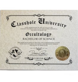Classhole University BS Diplomas - Occultology