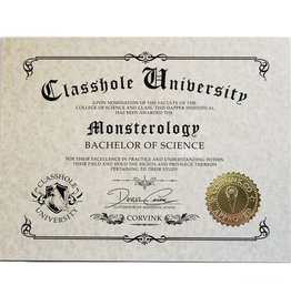 Classhole University BS Diplomas - Monsterology