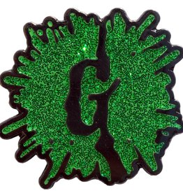 Goosebumps Green Glitter G Splat Enamel Pin
