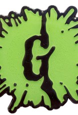Goosebumps Green Glow G Splat Enamel Pin