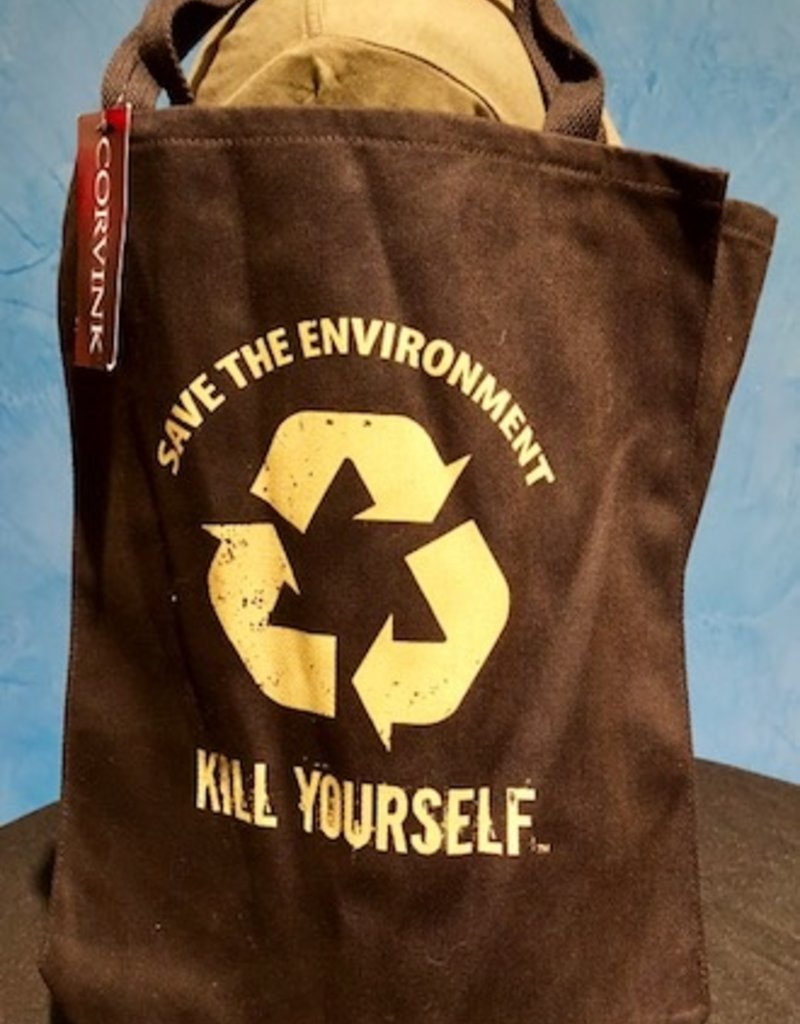 Save The Environment, Kill Yourself - Tote - Black Version