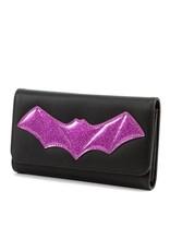 Elvira After Midnight Wallet - Purple Bat