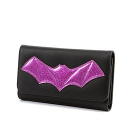 Elvira After Midnight Wallet - Purple Bat