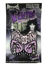Elvira Vegas or Bust Spinner Enamel Pin