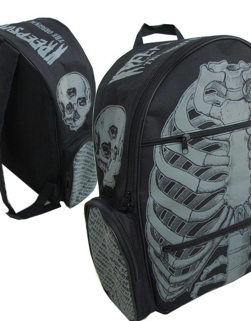 Charcoal Ribcage Back Pack