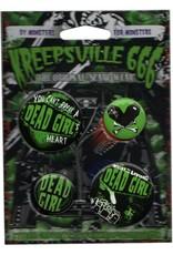 Dead Girl Badge Set