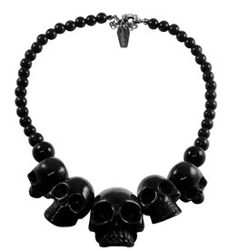 Skull Collection Necklace - Black