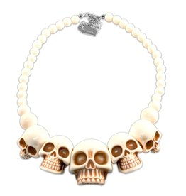 Skull Collection Necklace - White