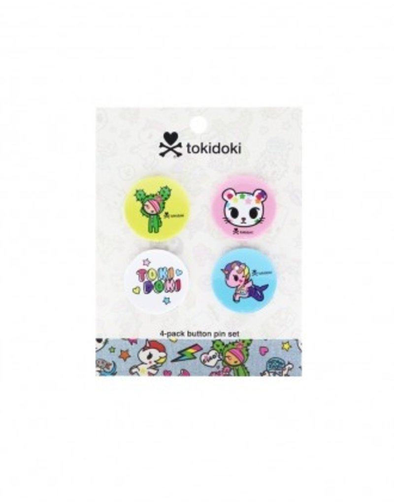 tokidoki -  Denim Daze Character Button  Pin Set (4)
