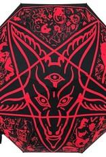 kreepsville 666 Skull Handle Umbrella - Goathead