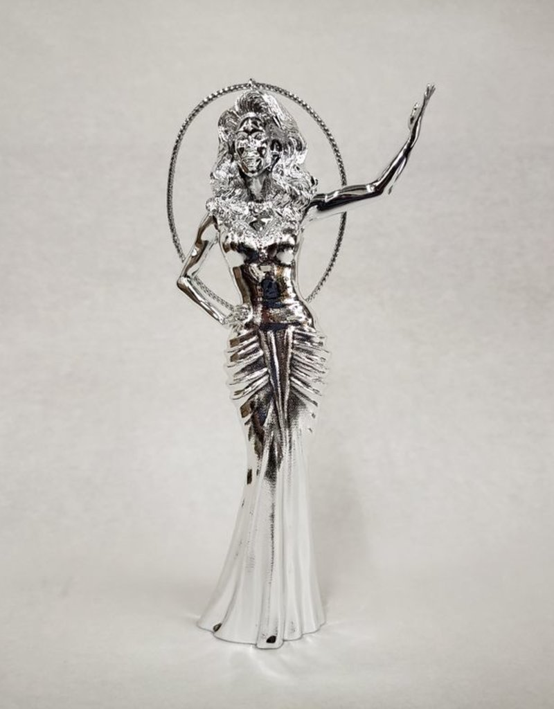 RuPaul Ornament - Silver