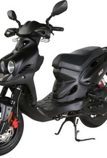 Genuine Scooters 2018 Matte Black Genuine Roughhouse Sport 50cc Moped