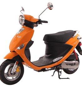 Genuine Scooters 2017 Tangerine Genuine Buddy 50cc Moped