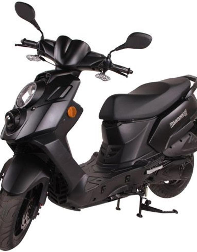Genuine Scooters 2018 Matte Black Genuine Hooligan 170i cc Scooter