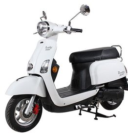 Genuine Scooters 2018 White Buddy Kick 125cc Scooter