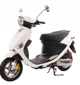 Genuine Scooters 2017 White Genuine Buddy 50cc Moped (#80)