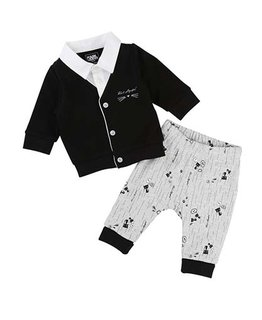 KARL LAGERFELD KIDS BABY BOYS CARDIGAN & PANT SET