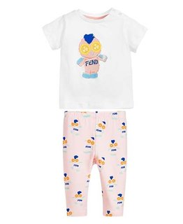 FENDI BABY GIRLS TOP & LEGGING SET