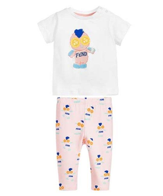 FENDI FENDI BABY GIRLS TOP & LEGGING SET