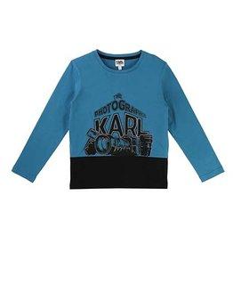 KARL LAGERFELD KIDS BOYS LONG SLEEVE TOP