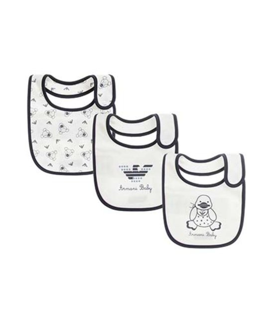 ARMANI JUNIOR ARMANI JUNIOR BABY BOYS BIB SET