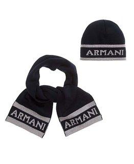 ARMANI JUNIOR BABY BOYS HAT & SCARF SET